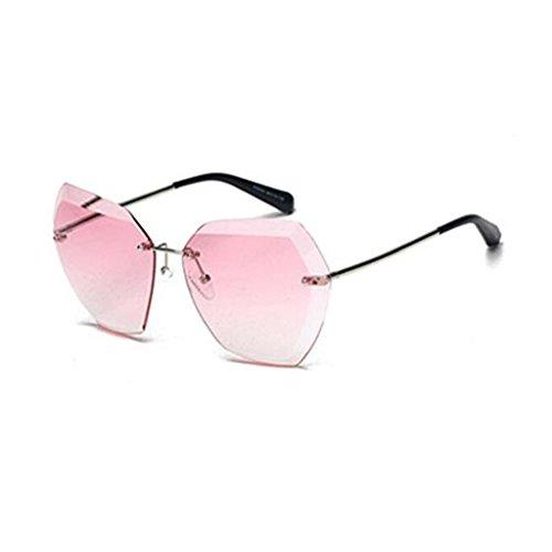 Coloreado Gafas Playa 2 Marco Color Harajuku Sol 2 Sin QZ Vintage HOME De A5zqPnwY0