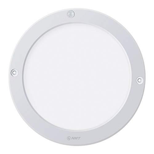 LED Panel Light, PIR Motion Sensor Ceiling Light, 1100 Lumen 15W 3000K Φ8.66 Inch Flush Mount Lights, for Stairs Depot Bathroom Toilet (100W Incandescent Bulbs Equivalent), Warm White