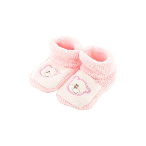 Babyschuhe 0-3 Monate rosa und weiß - Papa-Bären-Muster