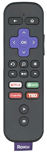 [OEM Genuine] [Remote Only] Roku Remote with Voice, Gaming, Headphone Jack - RF - Works for Roku Ultra Remote, Roku 4 Remote, Roku Premier Remote, Roku Premier Plus Remote by Anderic