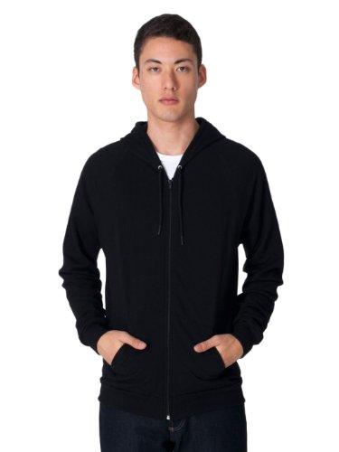 American Apparel 5497 Men's Unisex California Fleece Zip Hoodie Black (American Apparel Flex Fleece Hoodie)