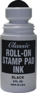 - Roll-on Stamp Pad Ink - Black