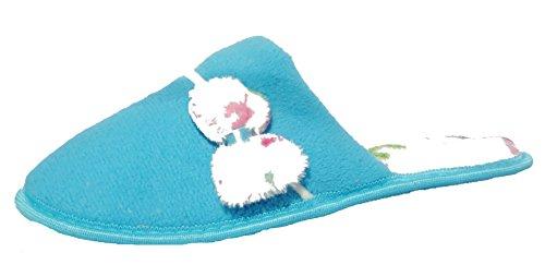 Mujeres Niñas Jyoti Acogedor Informal Invierno Pantuflas Azul