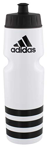 adidas Unisex Squeeze 750 Plastic Bottle, White/Black, ONE SIZE (Water Bottle Soccer)