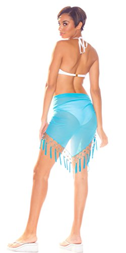 Your Sarongs Of Cover up World 1 Sheer Sarong Swimsuit Femmes Turquoise Colors In Choice qzxpw