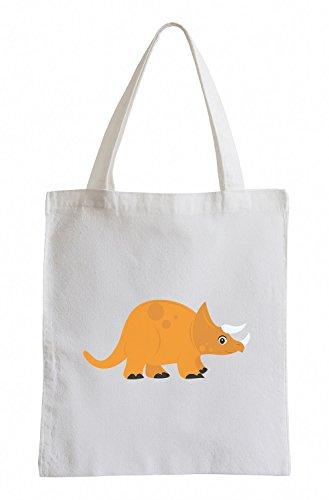 Raxxpurl Arancione Dino Fun sacchetto di iuta
