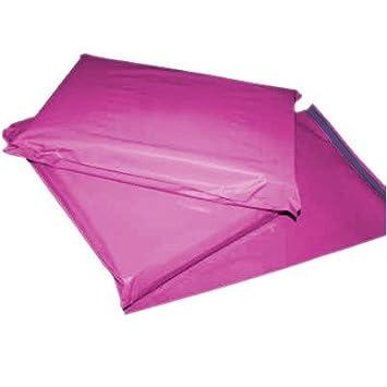 20 x fuerte grande color rosa bolsas de plástico para envíos ...