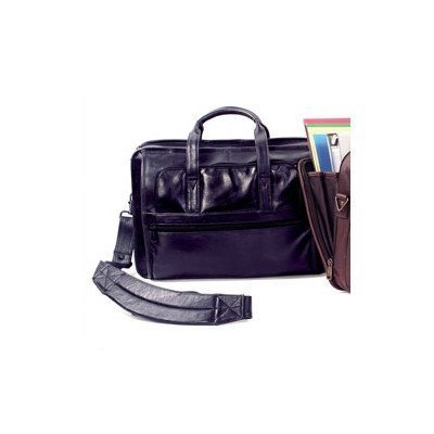 (Cowhide Leather Briefcase Color: Black)