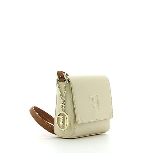 Trussardi Jeans Ischia Crossbody, Borsa a Tracolla Donna, 17x16x7 cm (W x H x L) BEIGE/CUOIO