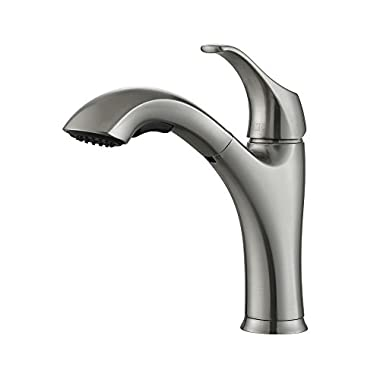 Kraus KPF-2250 Single Lever Pull-Out Kitchen Faucet, Stainless Steel, Amazon Exclusive