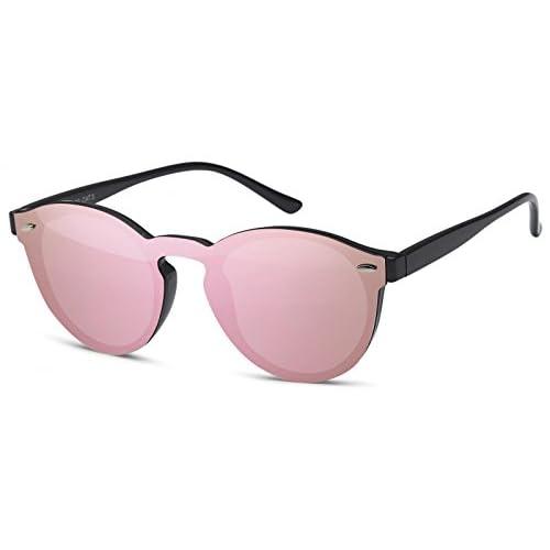 8ec99c2f75 styleBREAKER gafas de sol con un solo cristal con lentes planas y patillas  de plástico,