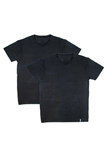 RBX Active 2-Pack Men's Crew Neck Undershirts Black L