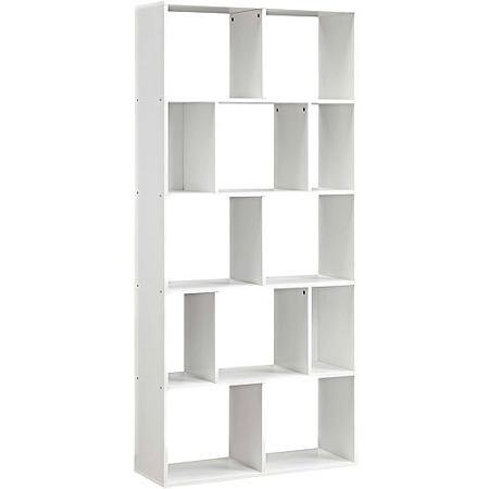 Mainstays Home 12-Shelf Bookcase, White by Mainstays