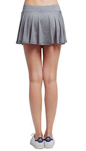 Pliss Courte Tennis Uni Femme XS Short Gris Jupe de XL Skort Jupe HonourSport fEwB11