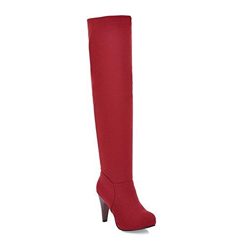 Balamasa Moda Donna Cono-forma Tacco Stile Romanico Stile Europeo Smerigliato Stivali Rosso