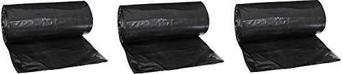 Aluf Plastics RL-3347XH T-Tough Roll pack Low Density Repro Blend Star Seal Coreless Rolls Bag, 30-35 Gallon Capacity, 46'' Length x 33'' Width, XH Strength, Black (Pack of 100) (3-(Pack of 100)) by Aluf Plastics