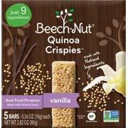 Beech-Nut Stage 3 Quinoa Crispies - Vanilla 5ct (6 Boxes a Pack) (Pack of 5)