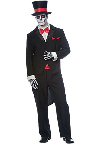 [Day of the Dead Groom Costume - X-Large - Chest Size 46-50] (Dead Groom Costume)