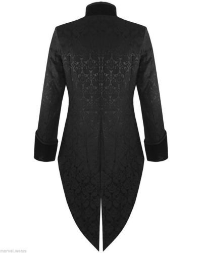 Prime Quality Mens Steampunk EMO Tailcoat Jacket Velvet Gothic VTG Victorian /Tail Coat/USA Sizes 4