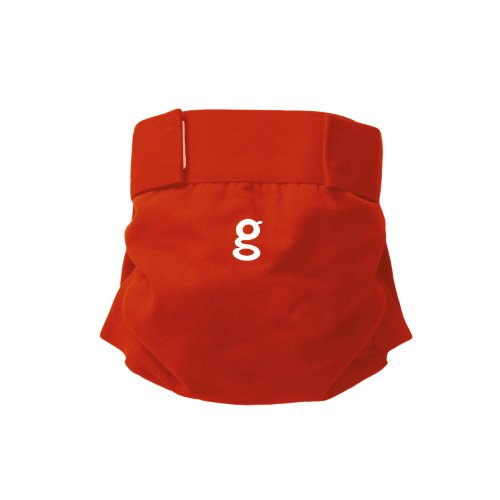 gDiapers gPants Hybrid Cloth Diapers - Hook & Loop - Good Fortune Red - Medium