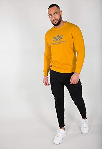 Uomo Maglione Sweater Basic Alpha Frumento zEtqwzTa