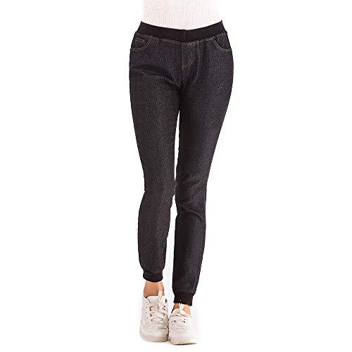 Moda 2018 Elegante Tendencia De Otoño Corto Vaqueros Más Mujeres Negro Fresco Npradla Casual Mezclilla Jeans Suelta Elástico xWwqptTW6g