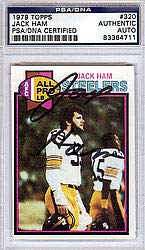 Jack Ham Signed 1979 Topps Trading Card - PSA/DNA Authentication - Autographed NFL Football Memorabilia