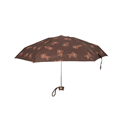 Kentwood Shield - LINE FRIENDS Brown Compact Folding Umbrella One Size Brown
