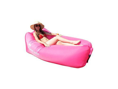 Woo Woo 2.0 Inflatable Lounger- Premium Air Mattress Sofa Bed- For Indoors & Outdoors-Camping,Hiking,Traveling,Park,Beach-Easy To Inflate- Puncture Resistant & Lightweight Air Couch - Picture On Sunglasses Put