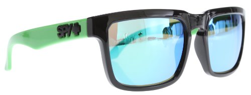 Spy Helm Sunglasses Grey w/ Green Spectra Lens - Spy Helm Glasses