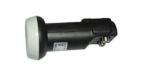 GALLUNOPTIMAL GO-TL Twin-LNB Importado Negro 40 mm, 0,1 db, Full-HD, 3D Ready