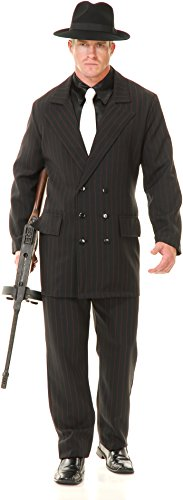Gangster Double Breasted Suit Black-Red Adult C. -