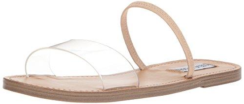 Steve Madden Women's Dasha Flat Sandal, Clear, 10 M (Steve Madden Zappos)