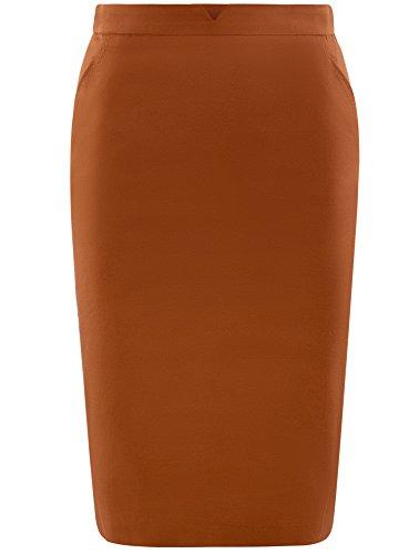 Crayon Ultra en Marron Jupe oodji Femme Coton 3100n F7qR1n6w