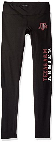 NCAA Texas A&M Aggies Adult Women Full Length Active Lifestyle Pant,Small,Black