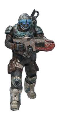 Gears of War NECA Series 6 Action Figure COG Soldier New Articulation!