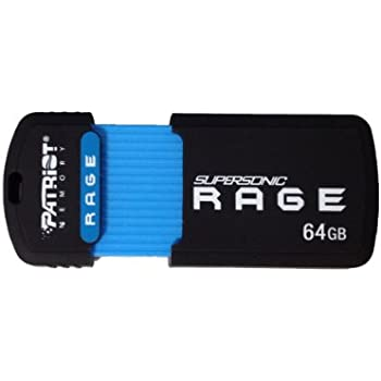 Patriot 64GB Supersonic Rage Series USB 3.0 Flash Drive With Up To 180MB/sec- PEF64GSRUSB