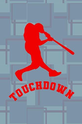 (Touchdown!: Blank Lined Notebook ( Baseball ) Blue)
