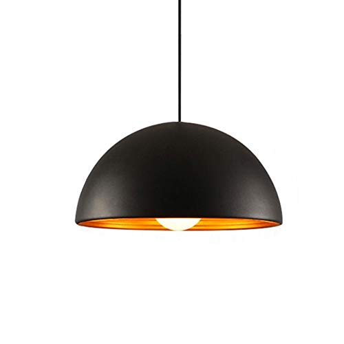 Creative Personality Double-Layer Threaded semicircular Chandelier Single-Head Aluminum Nordic high-end Restaurant Shop Lamps,Black,1530cm