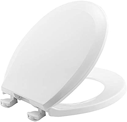 Strange Bemis 100Ec 000 Toilet Seat With Easy Clean Change Hinges Round Plastic White Ibusinesslaw Wood Chair Design Ideas Ibusinesslaworg