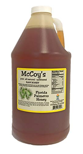 Raw Honey - Pure All Natural Unfiltered & Unpasteurized - McCoy's Honey Florida Palmetto Honey 6lb ()