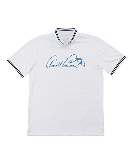 シマウマ良心的回路アーノルドパーマー メンズ ゴルフ ポロシャツ 半袖 モックネック半袖シャツ AP220101H03 WH/NV/BL M