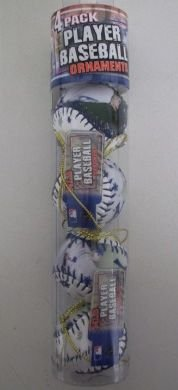 Joba Chamberlain Yankees MLB Player Baseball Ornaments 4 Pack - Joba Chamberlain Player