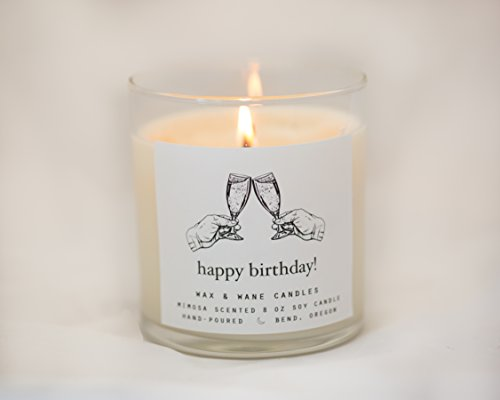 Happy Birthday Mimosa Scented Soy Candle