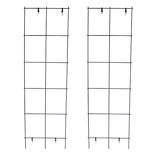 MTB Green PVC Pot Trellis 59 Inch by 17.7 Inch Metal Plant Stakes Climbing Plants Pack of 2, Plant Support
