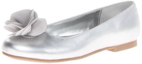 Girl's Nina 'Delta' Flat, Size 13 M - Metallic
