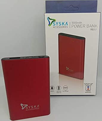 P0511J 5000mAh Light Weight Power Bank  RED