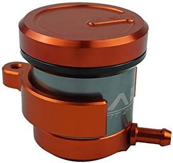 ZHANGBIN CNC Aluminium Universal Billet Forepart Bremskupplung Tank Motorrad Fließend Reservoir Oil Cup Für Yamaha Honda Suzuki (Farbe : Orange)