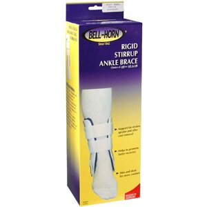 """Bell-Horn Rigid Stirrup Air Ankle Brace with Hand Pump - Short 8"""""""