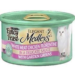 Fancy Feast Elegant Medleys White Meat Chicken Florentine with Garden Greens (24/3-oz cans), My Pet Supplies